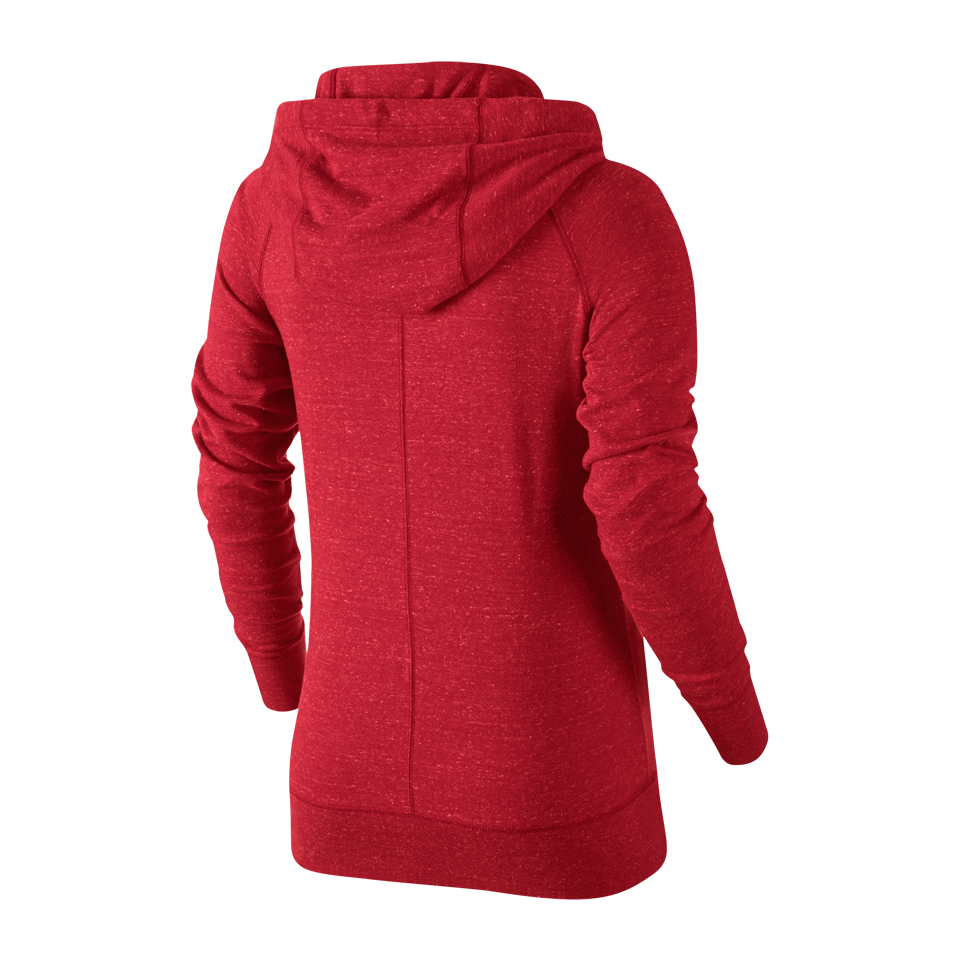 Nike Women's Gym Vintage Full Zip Hoodie University Red