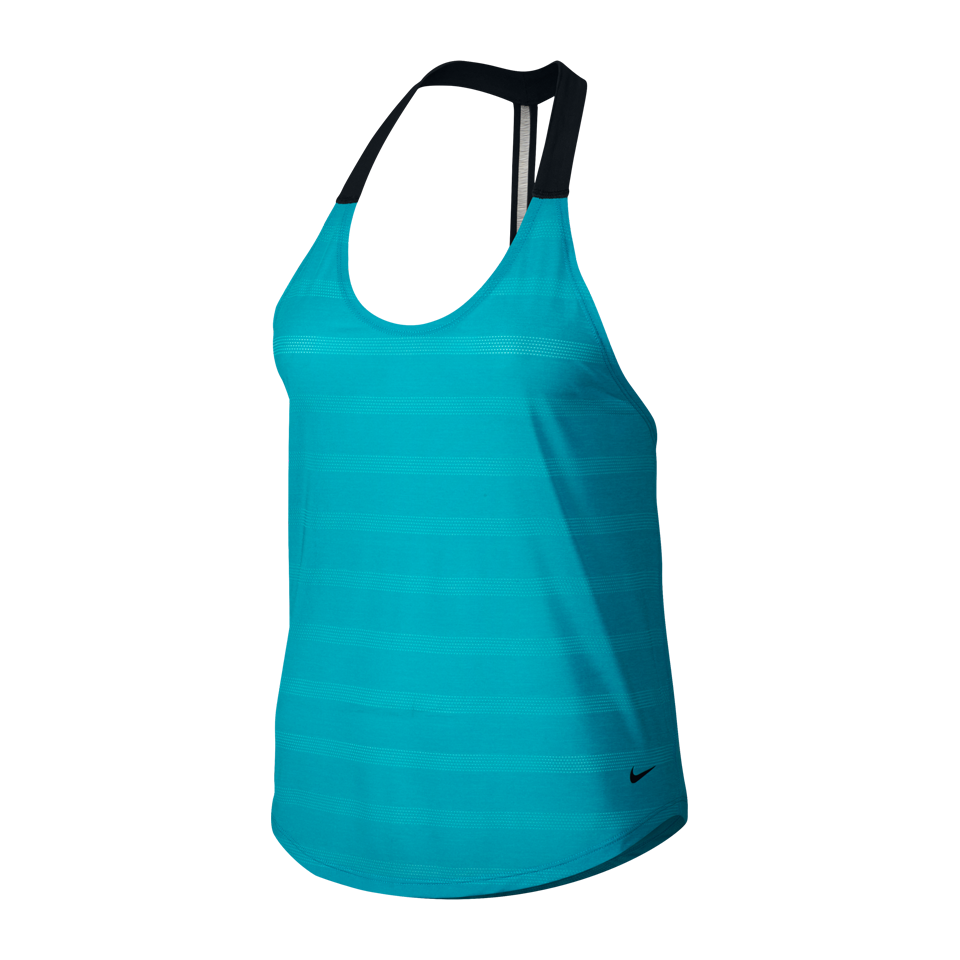 Nike Women's Elastika Elevate Training Tank Omega Blue