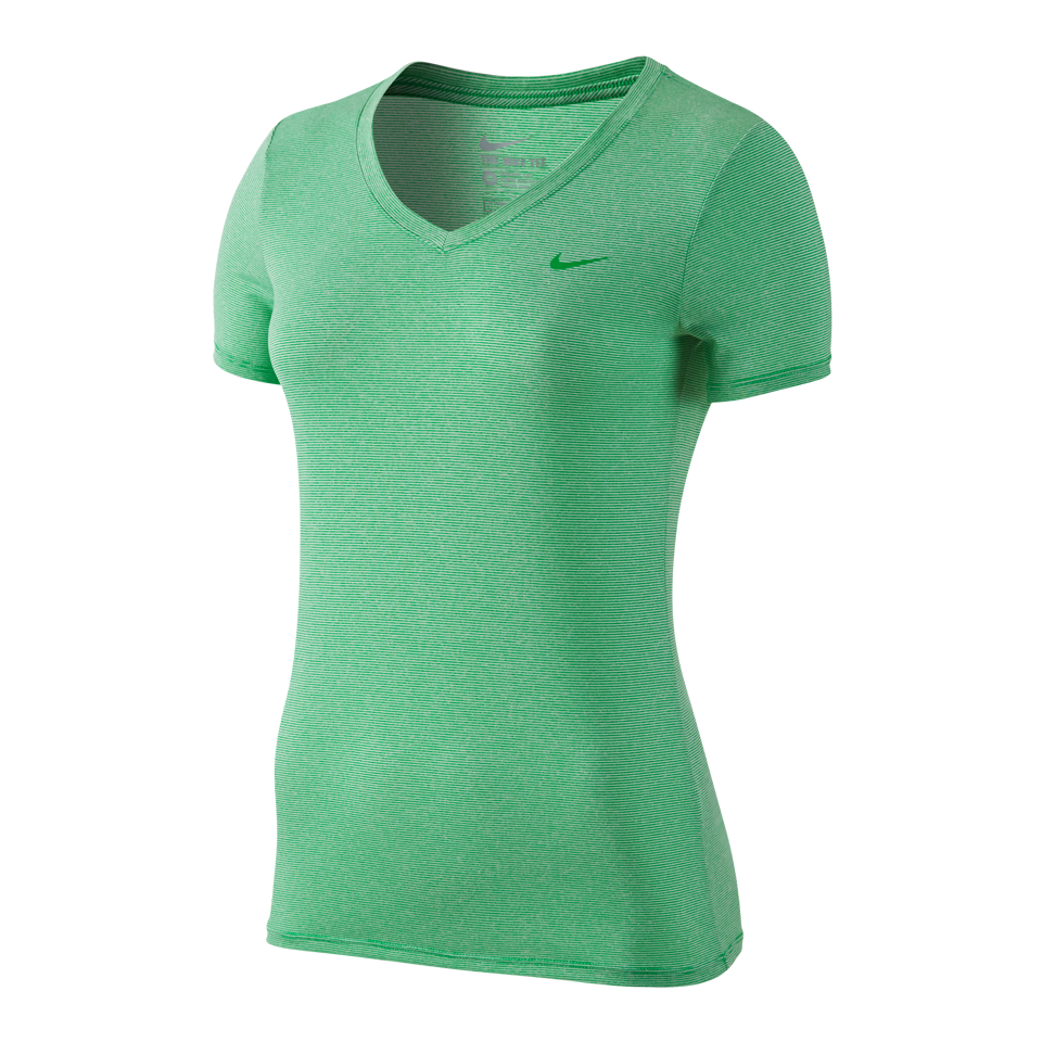 Nike Women's Legend Veneer V-Neck Shirt Spring Green