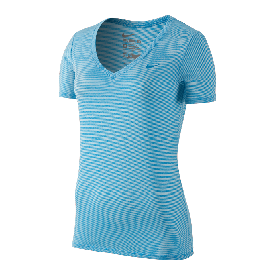 Nike Women's Legend Veneer V-Neck Photo Blue