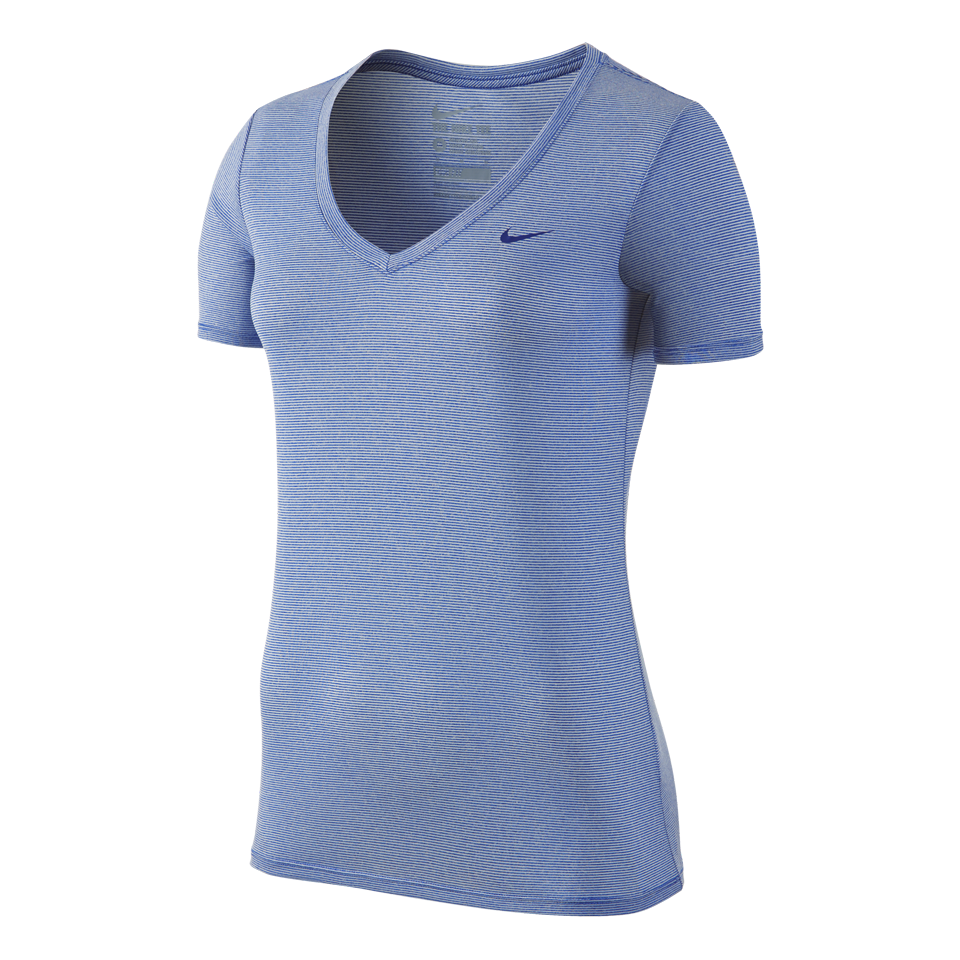 Nike Women's Legend Veneer V-Neck Shirt Deep Royal