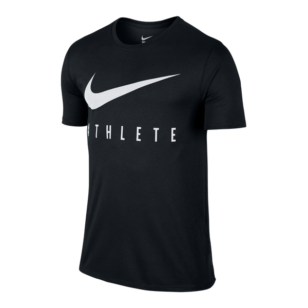 Nike Men's Dri-FIT Swoosh Athlete Short Sleeve Shirt Black