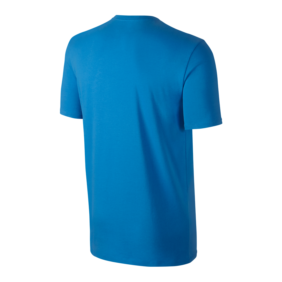 Nike Men's Matte Silicon Futura Short Sleeve Shirt Photo Blue