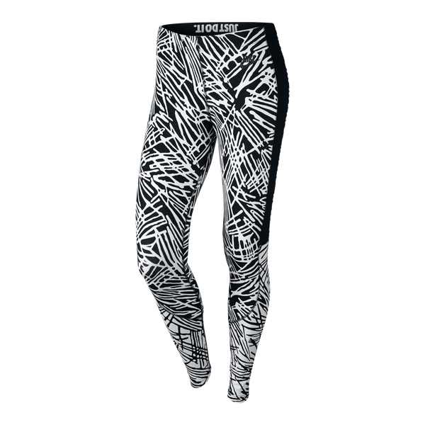 Nike Women's Leg-A-See Printed (Palm) Tights Black
