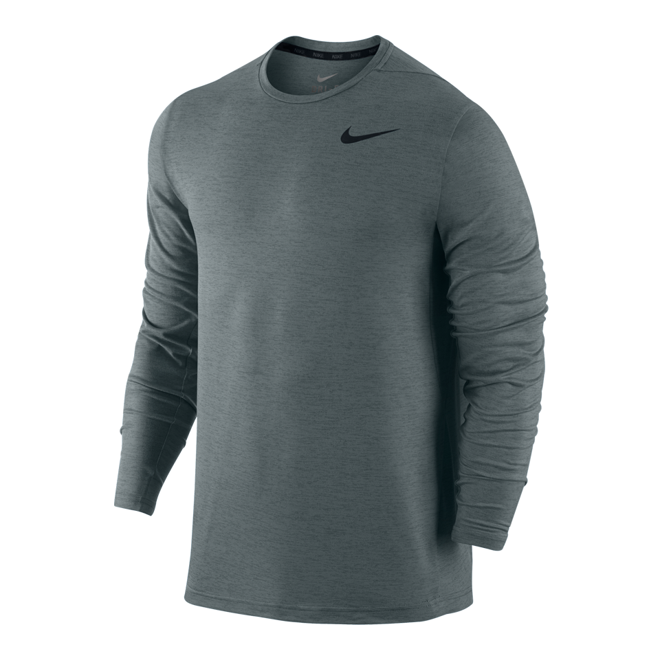 Nike Men's Dri-FIT Long Sleeve Shirt Cool Grey