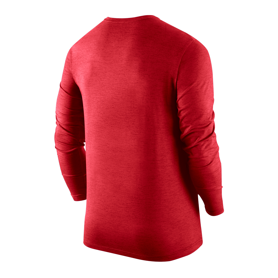 Nike Men's Dri-Fit Long Sleeve Shirt University Red