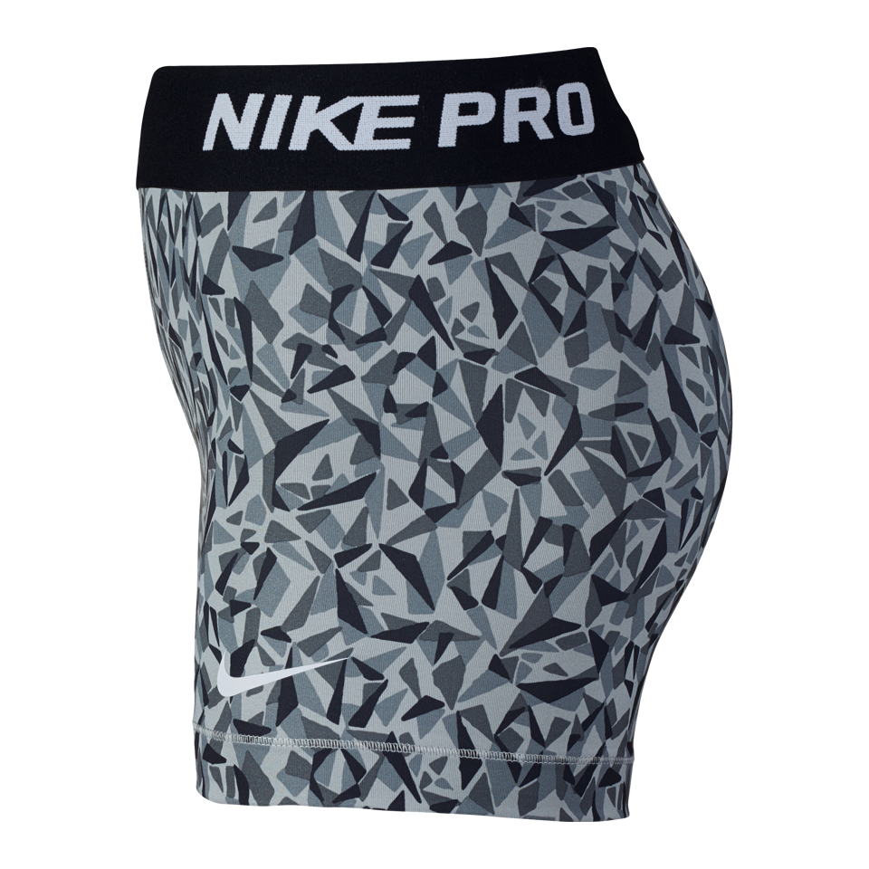 "Nike Women's Pro Cool Facet 3"" Shorts Wolf Grey"