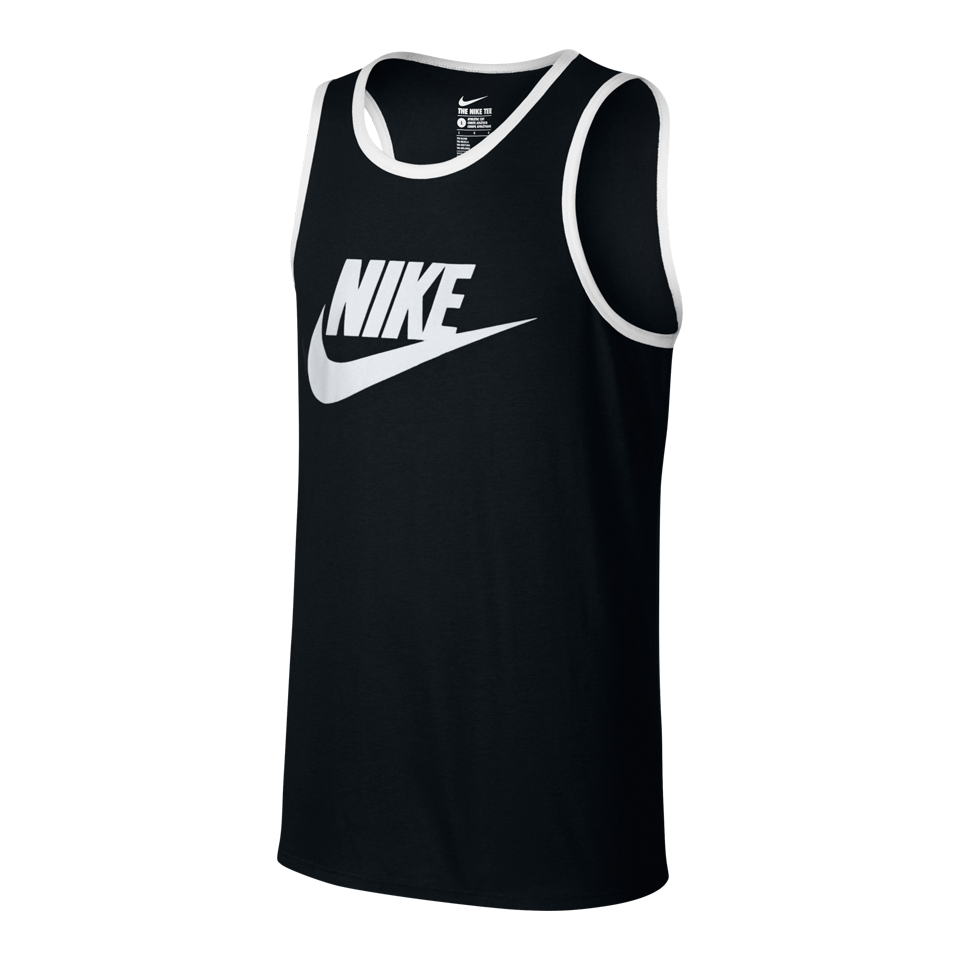 Nike Men's Ace Logo Tank Black/White