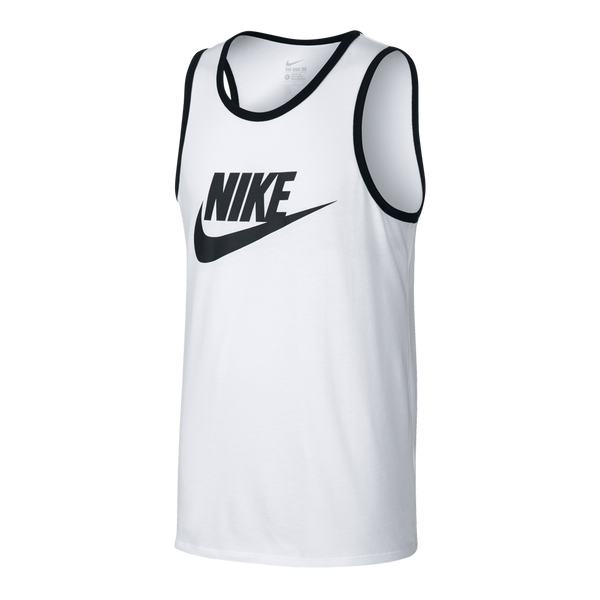 Nike Men's Ace Logo Tank White