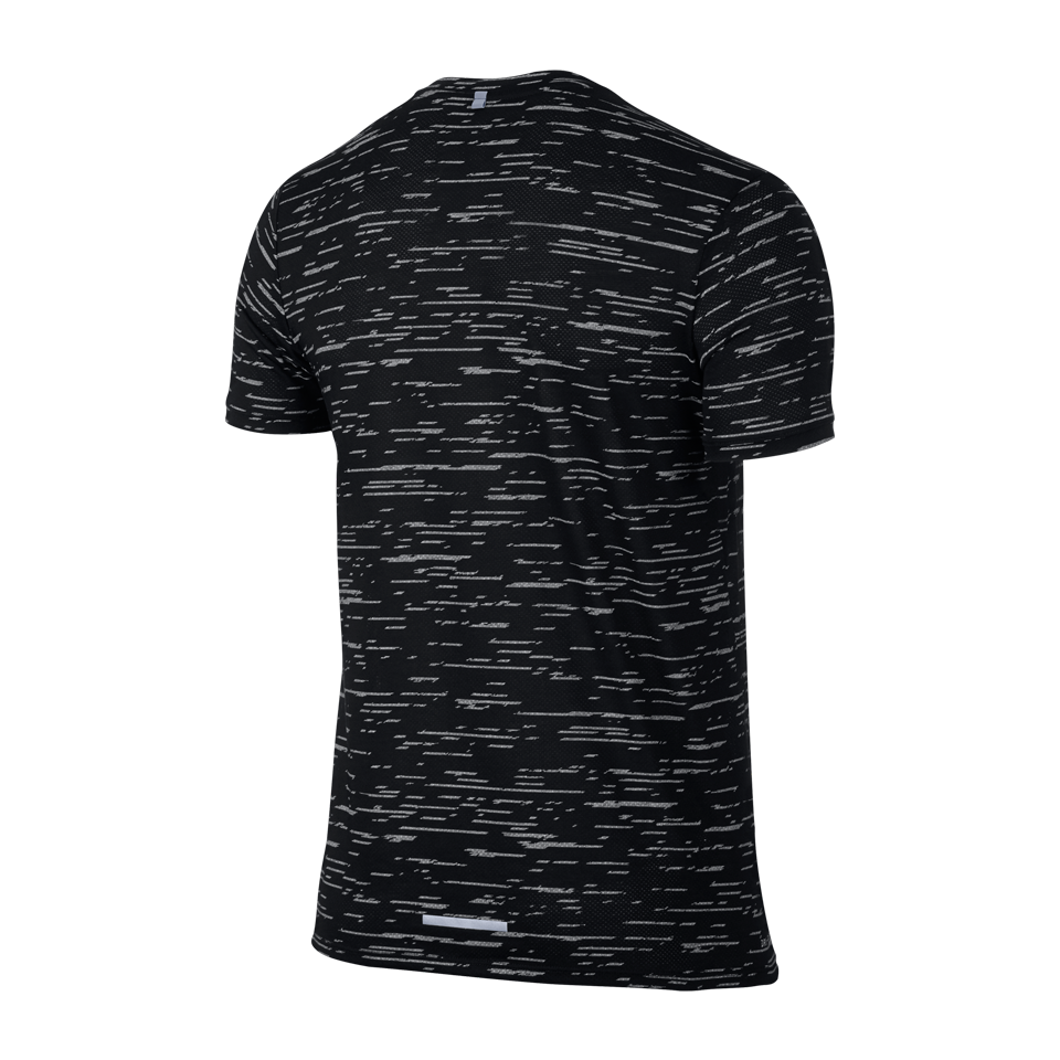 Nike Men's Dry Tailwind Short Sleeve Shirt Black