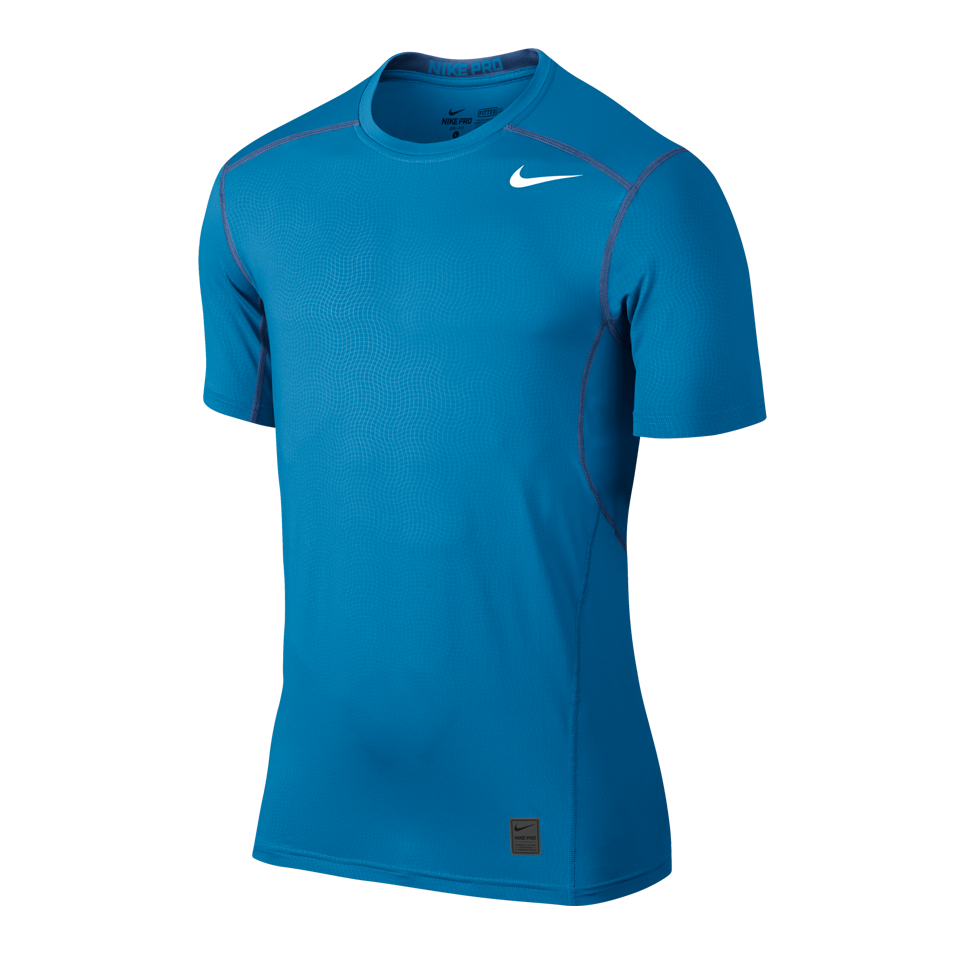 Nike Men's Pro Hypercool Short Sleeve Shirt Italy Blue