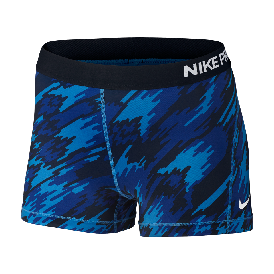 Nike Women's Pro Cool Overdrive Short Photo Blue