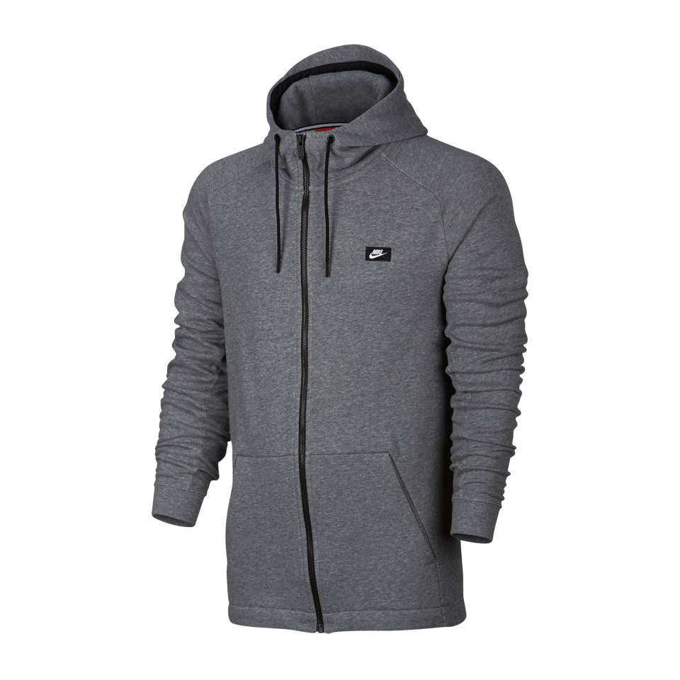 Nike Men's Modern Full Zip Hoodie Carbon Heather