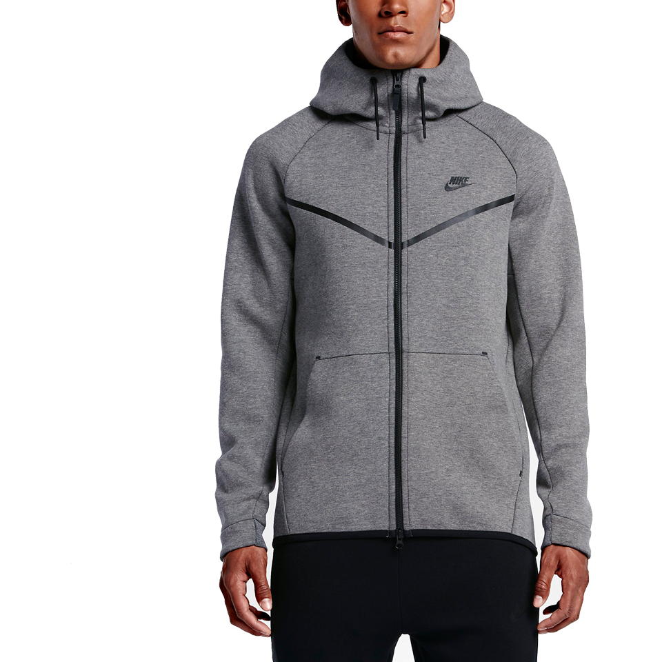 Nike Men s Tech Fleece Windrunner Hoodie Carbon Heather - Play ... 5aaa0ec2d