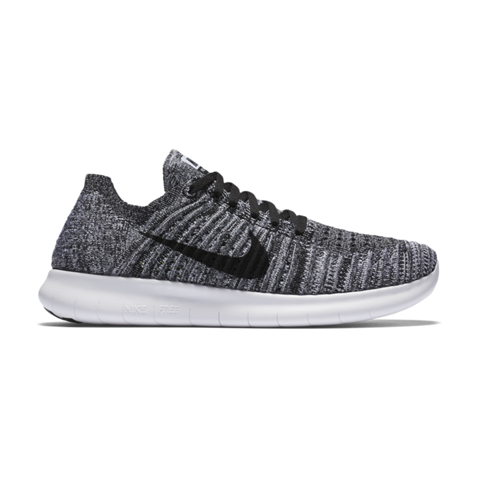 b154eb864f1d Nike Womens Free RN Flyknit White Black - Play Stores Inc