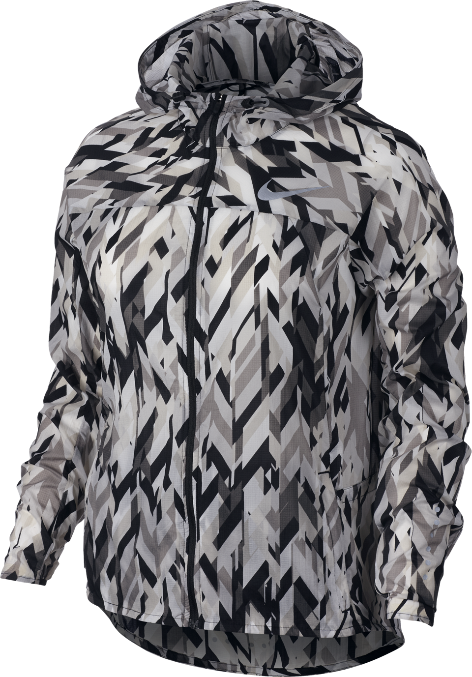 Nike Women's Impossibly Light Jacket Black Print
