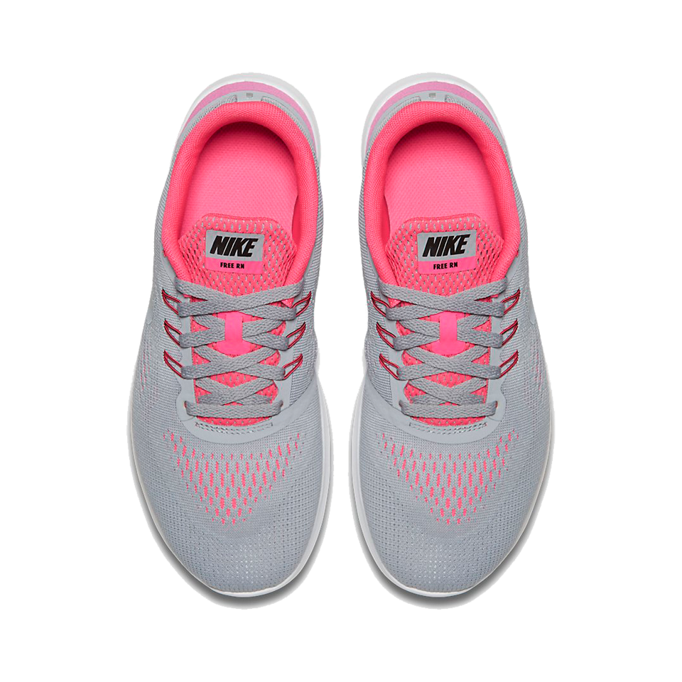 Nike Girls Free Run Wolf Grey