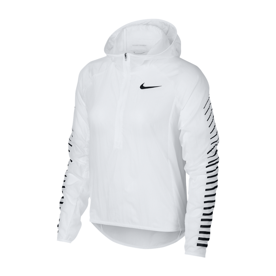 Nike Women s Impossibly Light Popover Jacket White - Play Stores Inc 133558c83