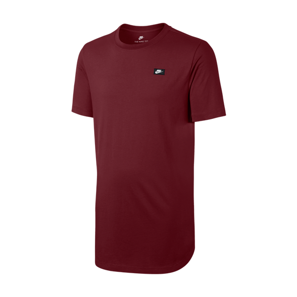 Nike Men's NSW Tee Modern Alt Hem Ream Red