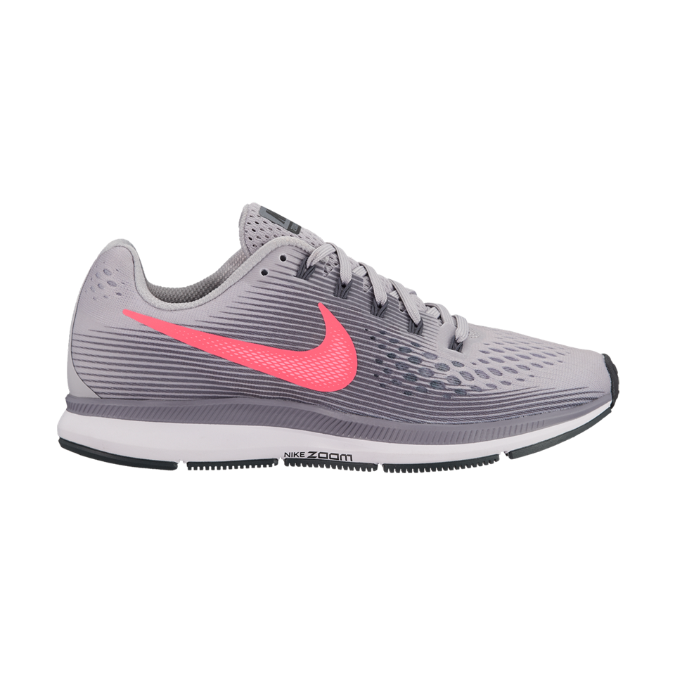 Nike Women s Air Zoom Pegasus 34 Atmosphere Grey Racer Pink - Play Stores  Inc 42b70b304