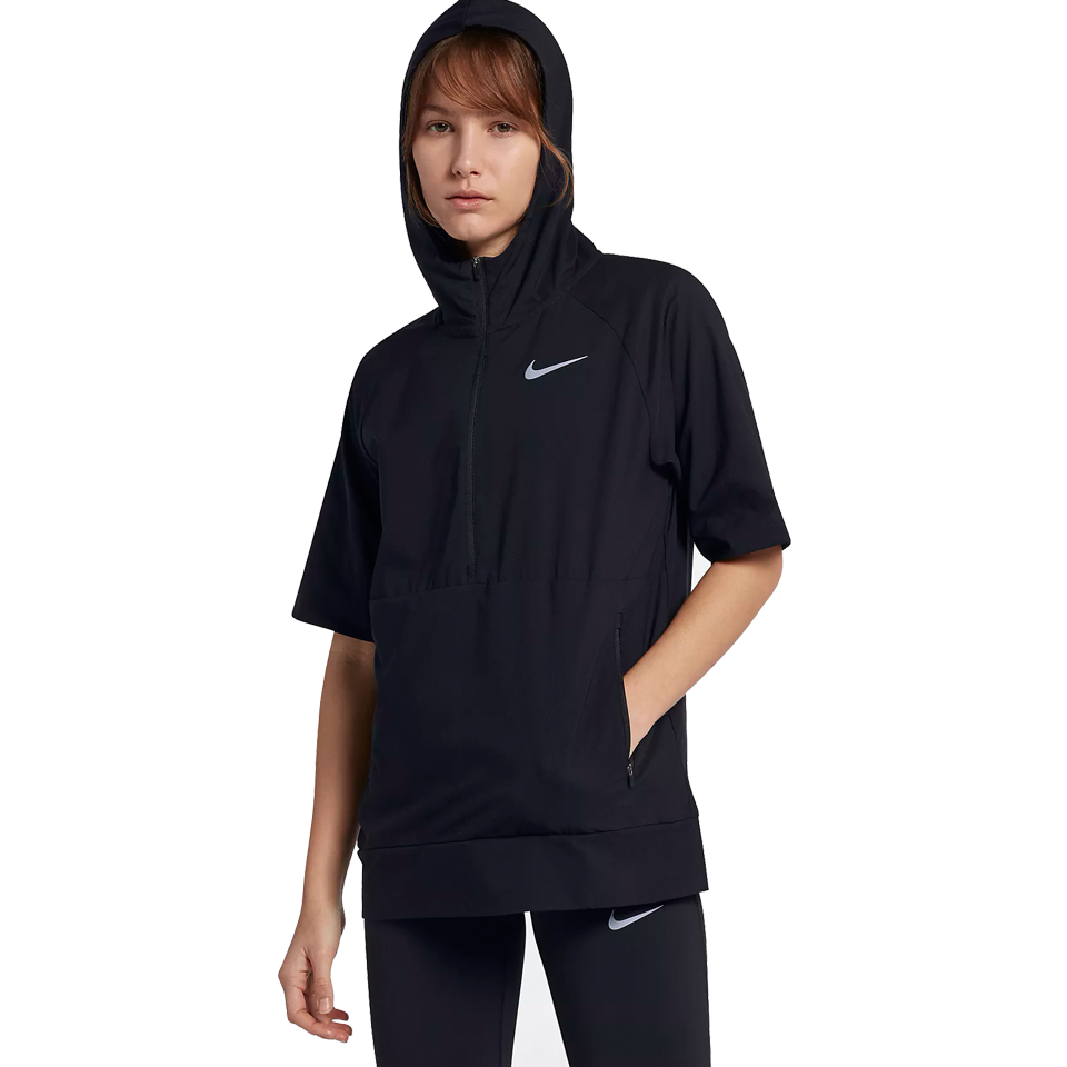 0b83408f820f Nike Women s Flex Short Sleeve Running Jacket Black - Play Stores Inc