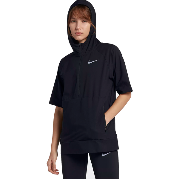 Nike Women's Flex Short Sleeve Running Jacket Black