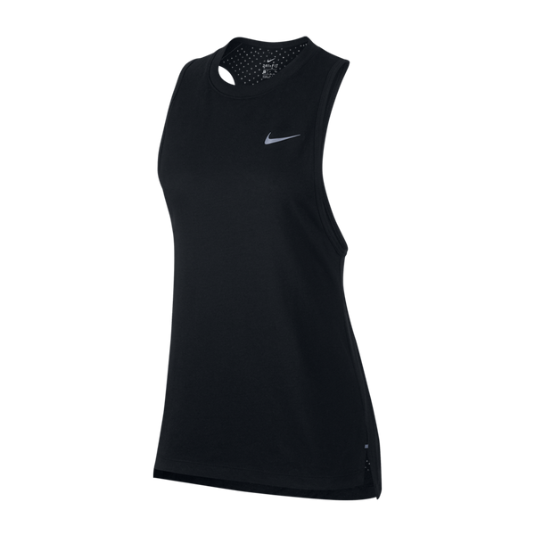 Nike Women's Breathe Tailwind Running Tank Black