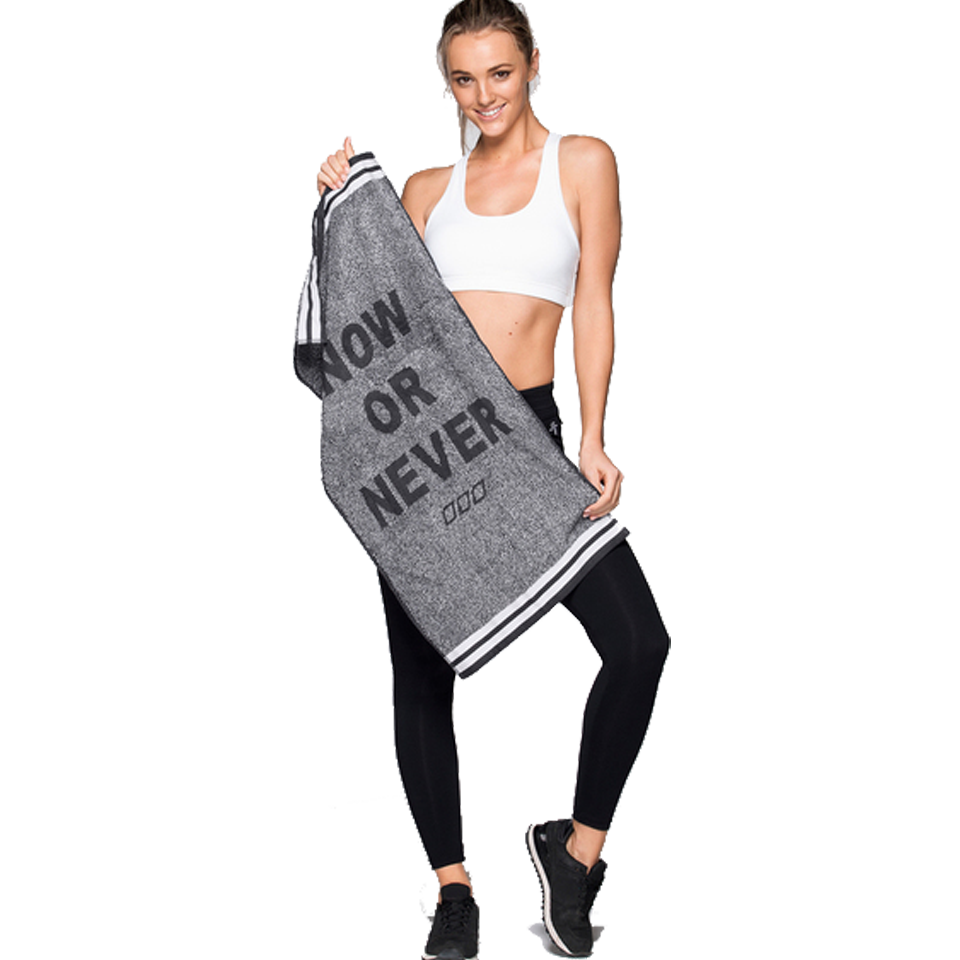 Lorna Jane Now or Never Sweat Towel Charcoal Marl