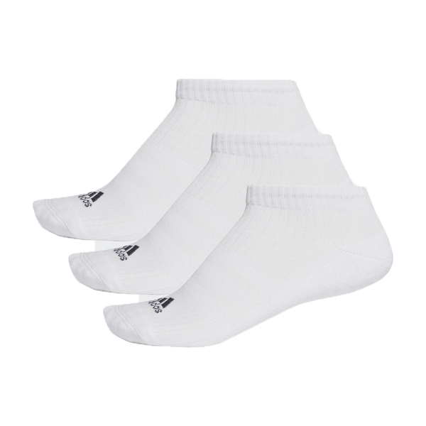 Adidas Men's 3 Stripe No Show 3 Pack White