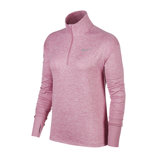 Nike Women's Element 1/2 Zip Running Top Magic Flamingo