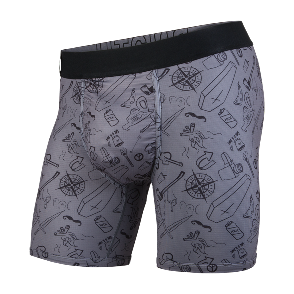 BN3TH Men's Entourage Boxer Brief Moral Compass/Ivory