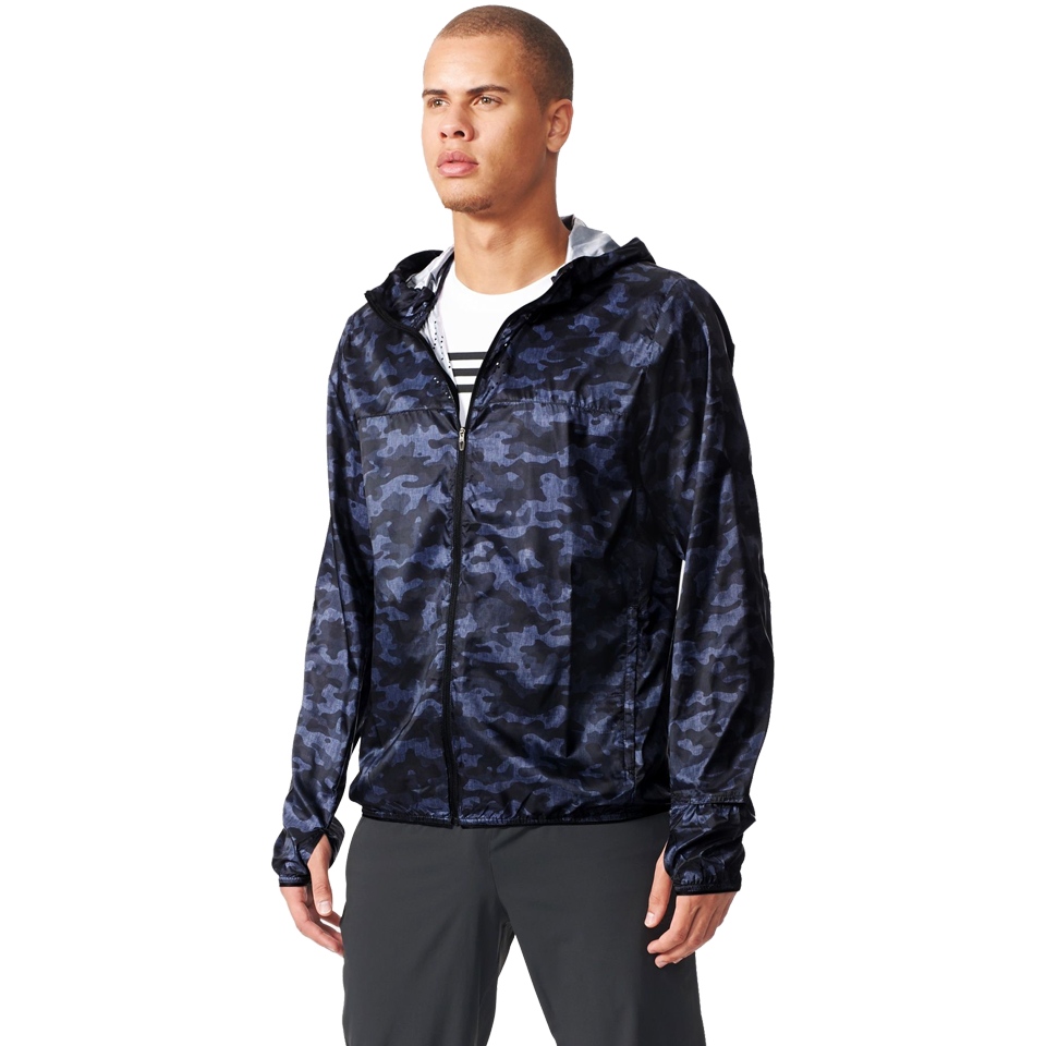 Adidas Men's Kanoi Wind Jacket Dark Grey