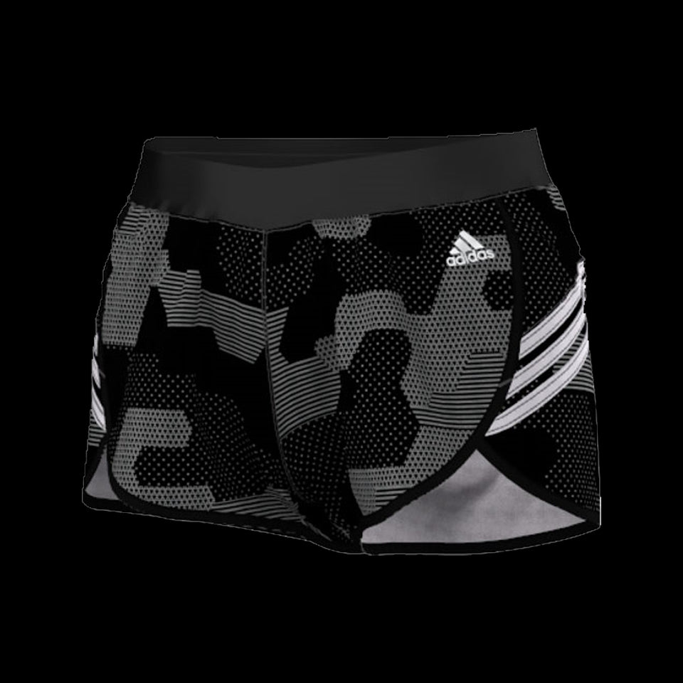 Adidas Women's Ultimate Printed Woven 3 Inch Short Black