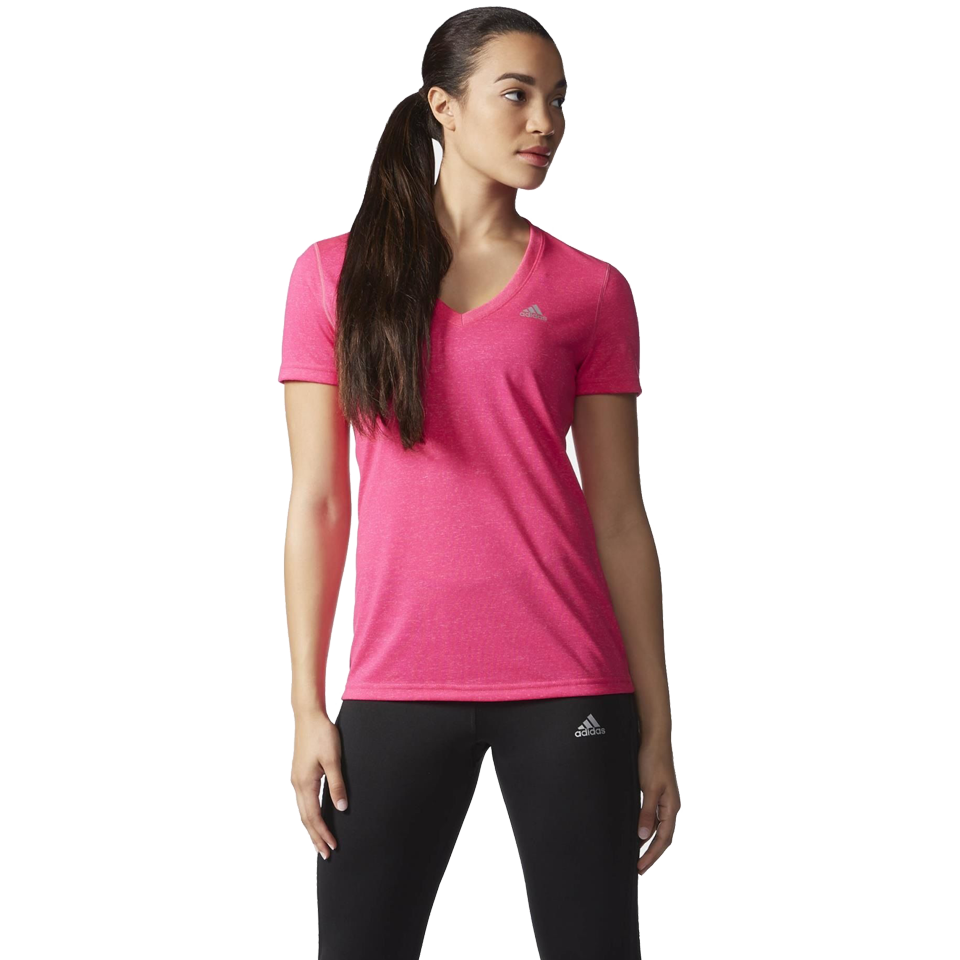 Adidas Women's Ultimate V-Neck Tee Shock Pink