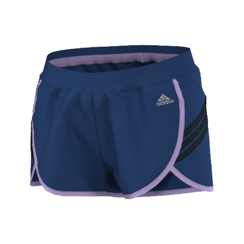 27638a052b Adidas Women s Ultimate Woven Short 3 Stripe 3 Inch Purple - Play Stores Inc