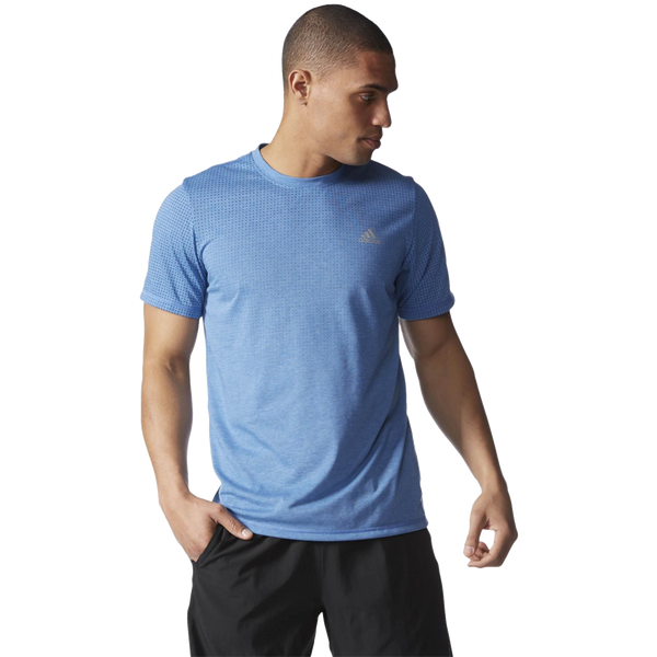 Adidas Men's Climacool Aeroknit Tee Equip Blue