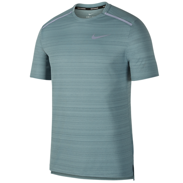 Nike Men's Dri-FIT Miler Short-Sleeve Running Top Aviator Grey