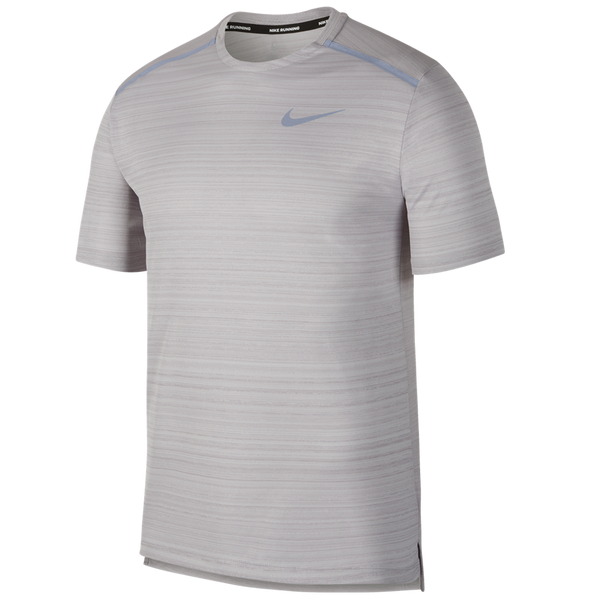 Nike Men's Dri-FIT Miler Short-Sleeve Running Top Atmosphere Grey