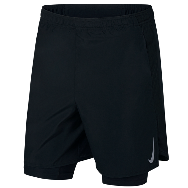 "Nike Men's Challenger 7"" 2-in-1 Running Shorts Black"