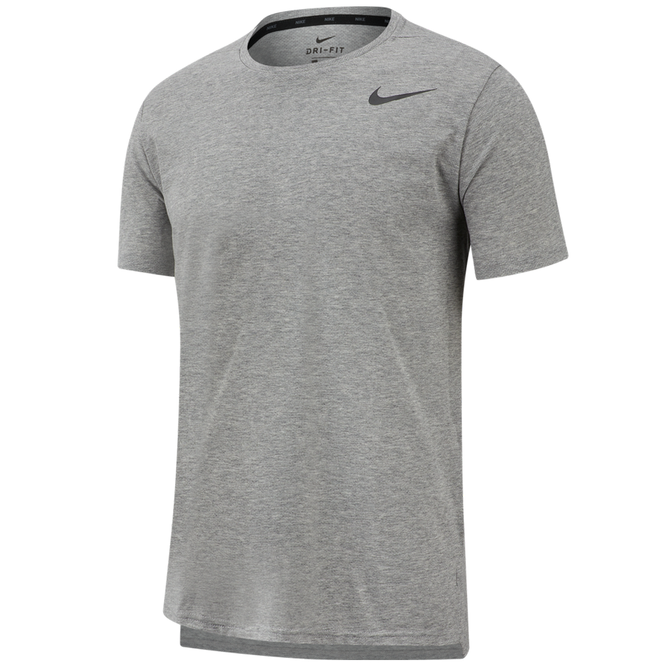 2eaffc3e Nike Men's Dri-FIT Breathe Short-Sleeve Training Top Dark Grey Heather -  Play Stores Inc
