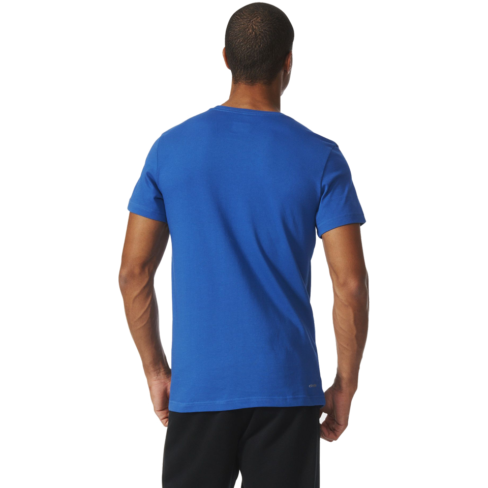 Adidas Men's Short Sleeve Logo Shirt Equip Blue