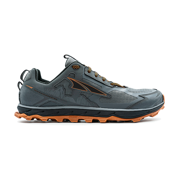 Altra Men's Lone Peak 4.5 Low Gray/Orange