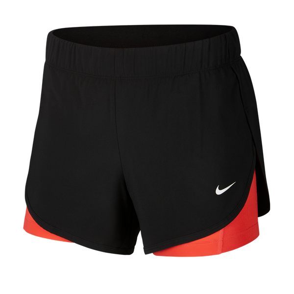 Nike Women's Flex 2-in-1 Training Shorts Black/Ember Glow