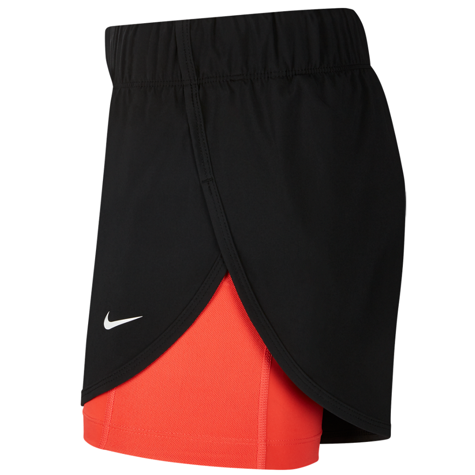 02eea3c7c3580 Nike Women s Flex 2-in-1 Training Shorts Black Ember Glow - Play Stores Inc