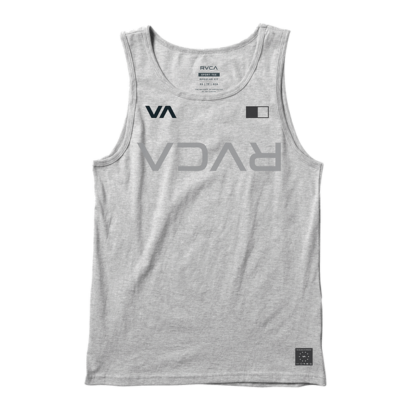RVCA Men's Banner Tank Top Heather Grey
