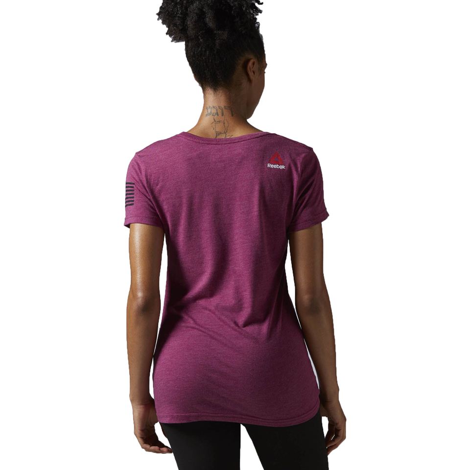 Reebok Women's Crossfit Forging Elite Fitness Tee Rebel Berry