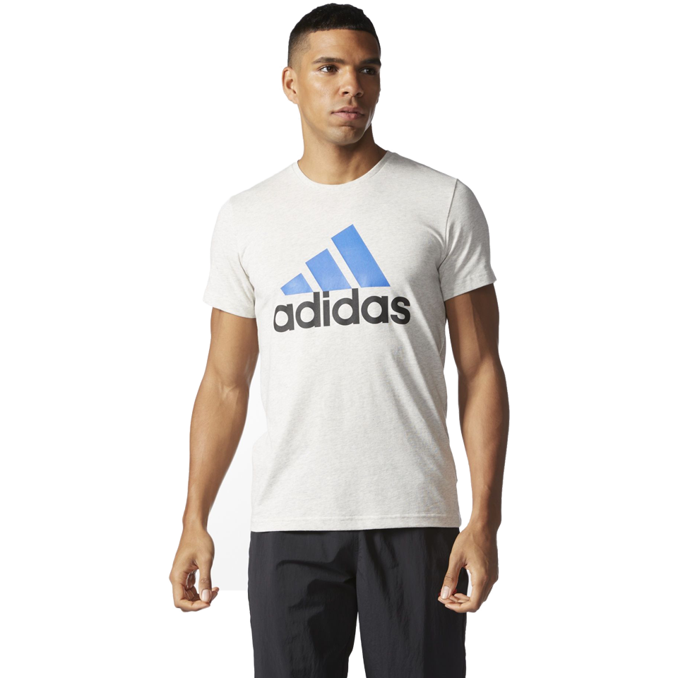 Adidas Men's Logo Tee White Heather
