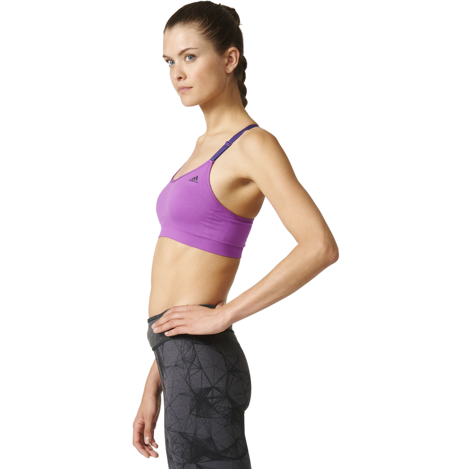 Adidas Women's Seamless Bra Shock Purple
