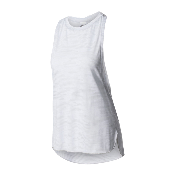 Adidas Women's Box Tank Aeroknit White