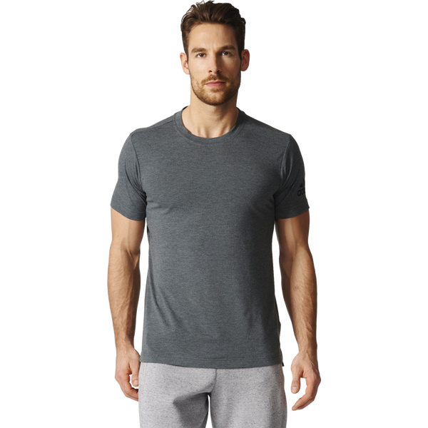 Adidas Men's Freelift Prime Tee Dark Grey Heather
